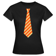 T-shirts ~ Vrouwen T-shirt ~ Stropdas streep oranje