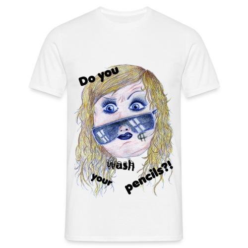 Kesha-do you wash your pencils?!-männer - Männer T-Shirt