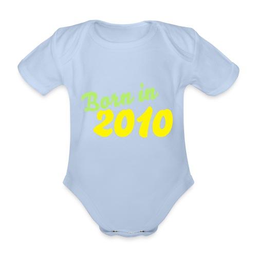 Body dziecięce Born in 2010 - Ekologiczne body niemowlęce z krótkim rękawem