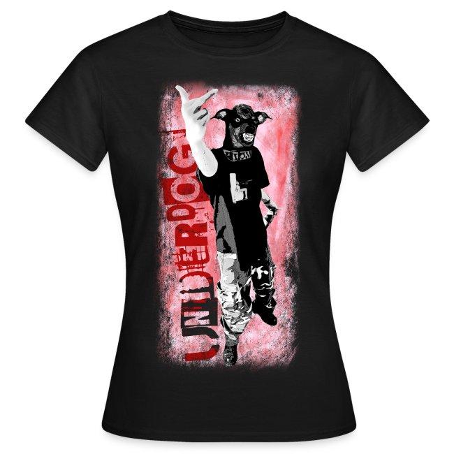 Underdog - black girlieshirt