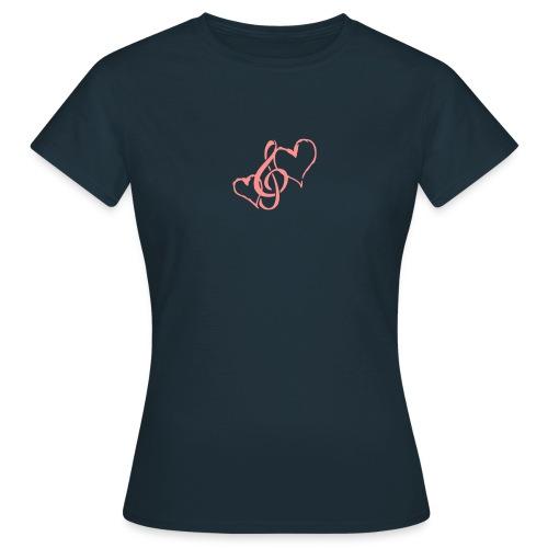 Frauen T-Shirt I love music - Frauen T-Shirt