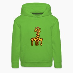 Light green giraffe in love Kids' Tops