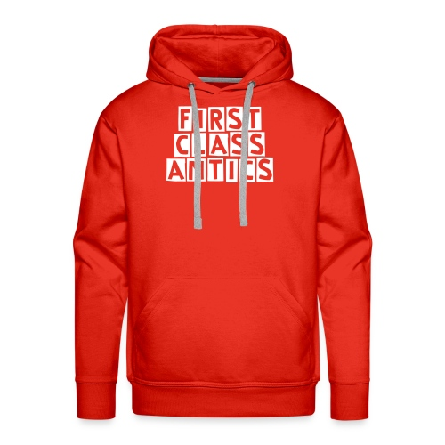 First Class Antics Red Mens Hood - Men's Premium Hoodie