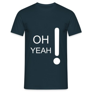 OH YEAH t-shirt NAVY - Men's T-Shirt