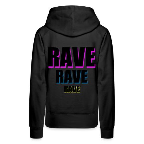 sweat logo rave - Women's Premium Hoodie