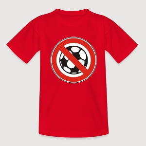 NO SOCCER / KEIN FUSSBALL | Kindershirt - Teenager T-Shirt