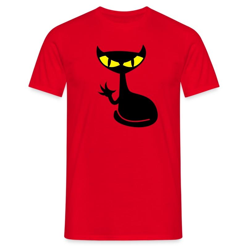 Catfight - red shirt - Männer T-Shirt