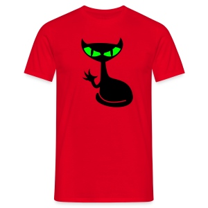 Catfight - red shirt1 - Männer T-Shirt