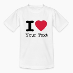 Wit I love / I heart DELUXE Kinder shirts