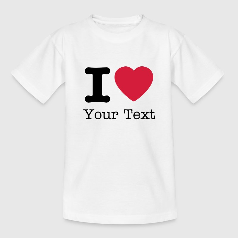 Wit I love / I heart DELUXE Kinder shirts - Teenager T-shirt