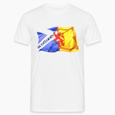 scotland saltire and lion rampant flag T-Shirts
