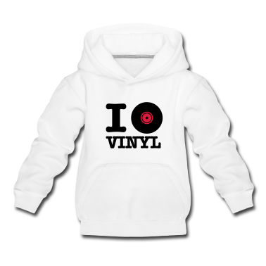 White i love vinyl Kids' Tops