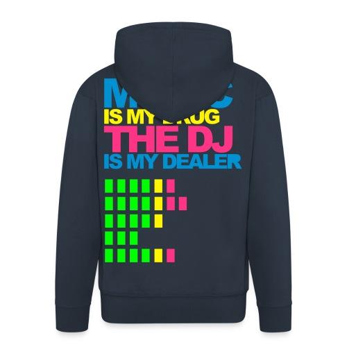 Music drug hoodie whit zip - Men's Premium Hooded Jacket