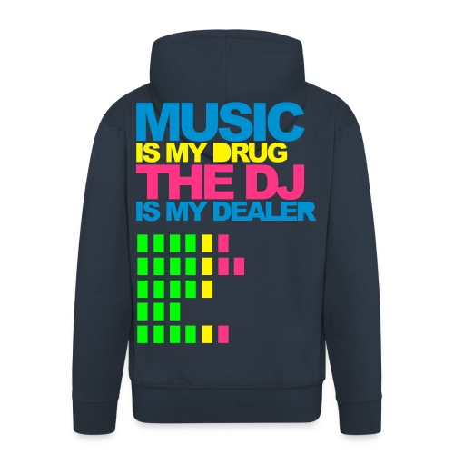 Music drug hoodie whit zip - Men's Premium Hooded Jacket