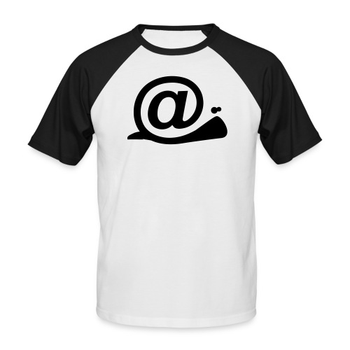 Arobase escargot - T-shirt baseball manches courtes Homme