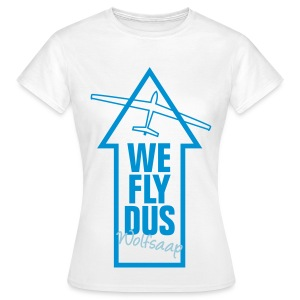 We fly DUS Wolfsaap - Frauen T-Shirt