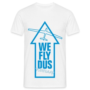 We fly DUS Wolfsaap - Männer T-Shirt