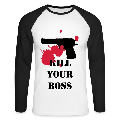 Kill Your Boss - T-shirt baseball manches longues Homme