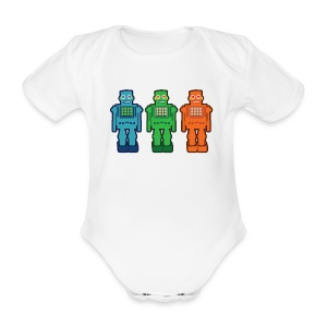 Robo baby one piece - Organic Short-sleeved Baby Bodysuit