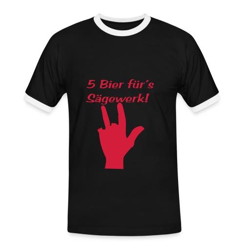 5Bier - Maglietta Contrast da uomo