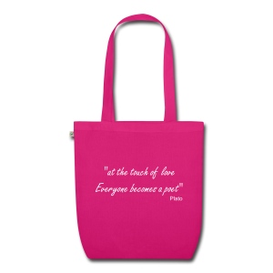 Touch of Love quote - EarthPositive Tote Bag
