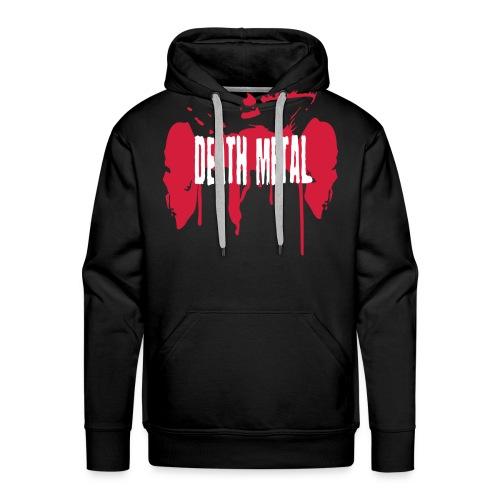 Männer Premium Hoodie - skulls,skull,satan,grindcore,devil,deathmetal,blood,Metal,Death