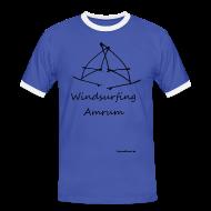 T-Shirts ~ Männer Kontrast-T-Shirt ~ Windsurfing, Amrum-shirt