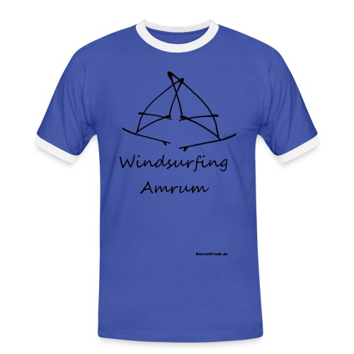 Windsurfing, Amrum-shirt - Männer Kontrast-T-Shirt