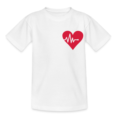 White Heart - Heartbeat Kids' Shirts