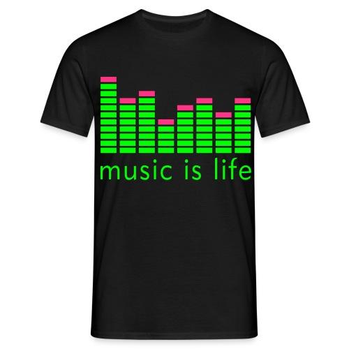music is life - Männer T-Shirt