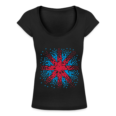 Black England Flag - Union Jack pixels Look  Women's T-Shirts