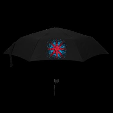 Black England Flag - Union Jack pixels Look  Umbrellas