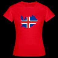 T-shirts ~ Vrouwen T-shirt ~ IJsland