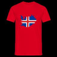 T-shirts ~ Mannen T-shirt ~ IJsland