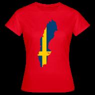 T-shirts ~ Vrouwen T-shirt ~ Zweden