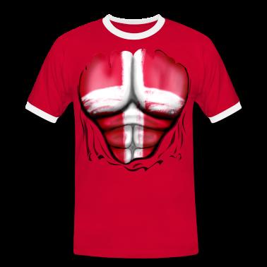 Danimarca Bandiera Strappato Muscoli