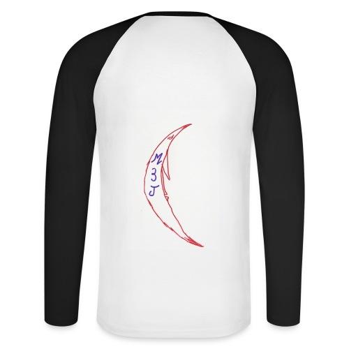 T-SHIRT BI-COLORE HOMME LA LUNE M3J - T-shirt baseball manches longues Homme