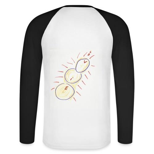 T-SHIRT BI-COLORE HOMME CRATERES DE VIE - T-shirt baseball manches longues Homme