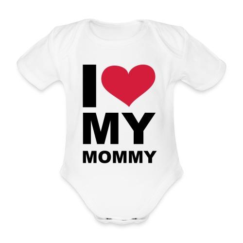 I love Mummy baby one piece - Organic Short-sleeved Baby Bodysuit