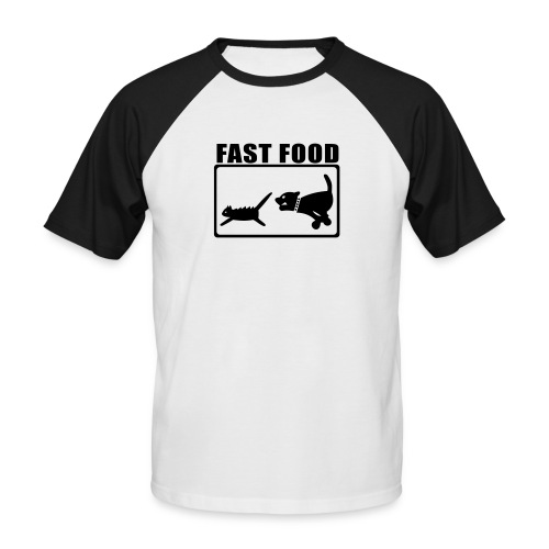 Hungry - Männer Baseball-T-Shirt