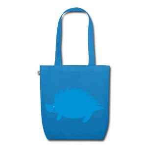Hedgehog bag blue - EarthPositive Tote Bag