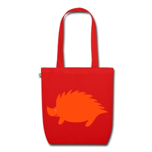 Hedgehog bag red/orange - EarthPositive Tote Bag