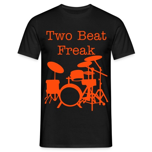 Two Beat - Black & Orange - Men's T-Shirt