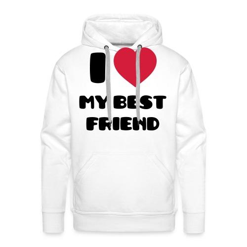 i love friend - Sweat-shirt à capuche Premium pour hommes