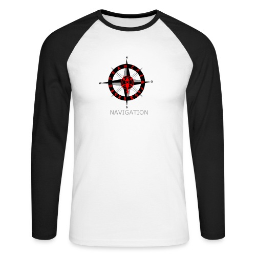 Navigation - Männer Baseballshirt langarm