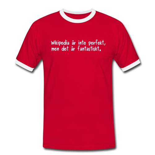 Fantastiskt - v2 - herr - Kontrast-T-shirt herr