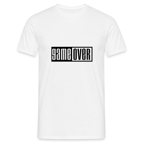 T-Shirt Blanc Game Over - T-shirt Homme
