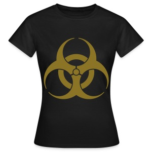 Back Disign BIOHAZARD Noir & Or - T-shirt Femme
