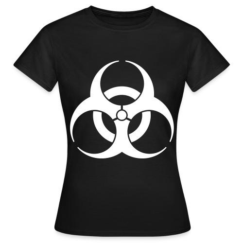 Back Disign BIOHAZARD Noir & Blanc - T-shirt Femme