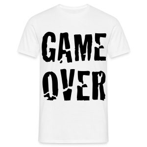 Back Disign Game Over Noir & Blanc - T-shirt Homme